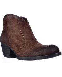 Born - Michel Short Western Ankle Boots, Rust - Lyst