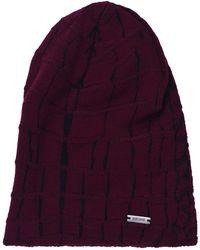 Roberto Cavalli - Just Cavalli Men's Red Black Animal Print Wool Winter Hat - Lyst