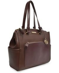 Adrienne Vittadini - Pebble Grain Pu Workbook Tote - Lyst