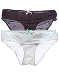 Betsey Johnson - Set Of 2 Ruffle Tanga - Lyst