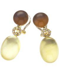 Jewelista - Vaid Roma 18k Gold, Lemon & Cognac Quartz Earrings - Lyst