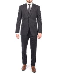 Luciano Barbera - Men Two Button Wool Suit Black - Lyst