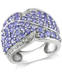 Catherine Malandrino - Tanzanite And Diamond Accent Pave Ring - Lyst