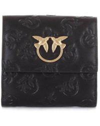 Pinko - Women's Black Leather Wallet - Lyst