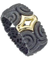 Jewelista - Vaid Roma Oxidized Silver & 18k Gold Insignia Cuff - Lyst