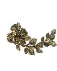 Roberto Cavalli - Gold Swarovski Crystal Embedded Coiled Serpent Earring - Lyst