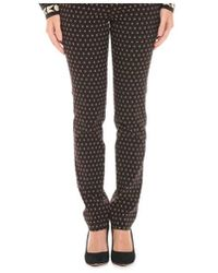 Etro - Women's Brown Cotton Pants - Lyst