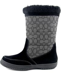 COACH - Womens Sherman Sig Suede/sig Closed Toe Mid-calf Cold Weather Boots - Lyst