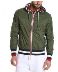 Sun 68 - Men's Green Polyamide Outerwear Jacket - Lyst