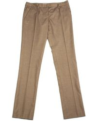Prada - Women's Virgin Wool Trouser Pants Brown - Lyst
