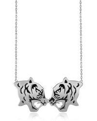 KENZO - Women's Silver Steel Necklace - Lyst