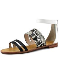 French Connection - Women's Harley Ankle Strap Flat Sandals - Lyst