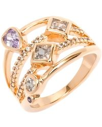Peermont - White And Purple Cz Ring - Lyst