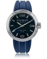 LOCMAN | One Stainless Steel Chronograph Men's Watch W/leather And Silicone Band Set | Lyst