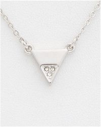 Rebecca Minkoff - Crystal Triangle Necklace - Lyst