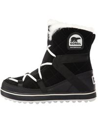 Sorel - Womens Glacy Suede Closed Toe Ankle Cold Weather Boots - Lyst