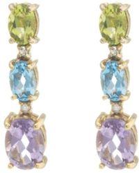Pangea Mines - 14k Gold Vermeil Multi-gemstone Drop Earrings - Lyst