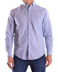GANT - Men's Mcbi131022o Light Blue/white Cotton Shirt - Lyst