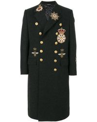 Dolce & Gabbana - Military Badges Coat - Lyst
