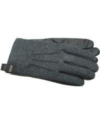 Ike Behar - Herringbone Leather Touchscreen Gloves - Lyst