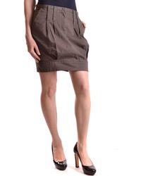 Isola Marras - Women's Brown Cotton Skirt - Lyst