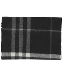 Burberry - Men's White/black Cashmere Scarf - Lyst