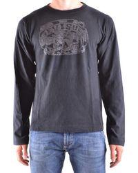 Evisu - Men's Black Cotton T-shirt - Lyst