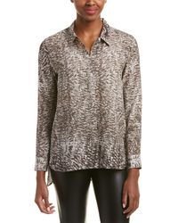 Chelsea and Walker - Printed Silk Blouse - Lyst