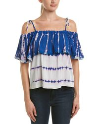 Michael Stars - Cold Shoulder Ruffle Top - Lyst