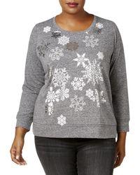 Style & Co. - Snowflake-embellished Sweatshirt - Lyst