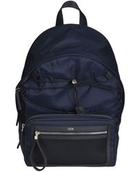 Tod's - Men's Blue Polyester Backpack - Lyst