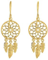Jewelry Affairs 14k Yellow Gold Dream Catcher Chandelier Earrings Lyst