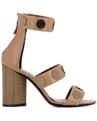 Pierre Hardy - Women's Mc06camel Brown Leather Sandals - Lyst