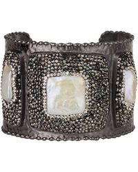 Saachi - Athena Cuff With Mother Of Pearl - Lyst