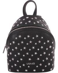 Liu Jo - Women's Black Polyester Backpack - Lyst