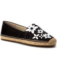 cc5b2a5cc890d Lyst - Michael Michael Kors Lola Floral Jelly Thong Sandal in Black