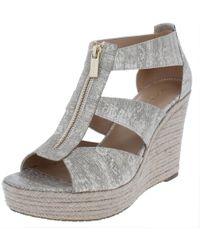 116132fd82d0 MICHAEL Michael Kors - Womens Damita Open Toe Espadrille Wedge Sandals -  Lyst