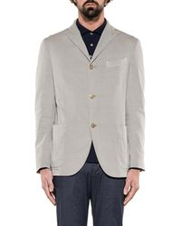 Boglioli - Men's Grey Cotton Blazer - Lyst