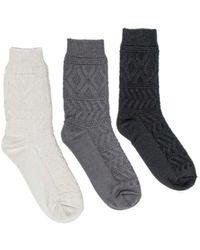Muk Luks - Women's Diamond Boot Sock Pack (3 Pair) - Lyst