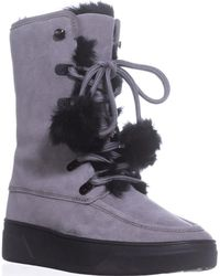 Michael Kors - Michael Juno Lace Up Lined Snow Boots, Storm - Lyst