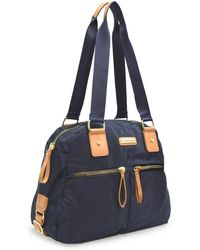 Adrienne Vittadini - Lightweight Nylon Collection Double Handle Satchel With Double Zip Front Pockets - Lyst