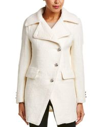 Laundry by Shelli Segal - Asymmetric Front Wool-blend Coat - Lyst