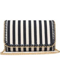 Bungalow 20 - Mara Stripe Canvas Clutch - Lyst