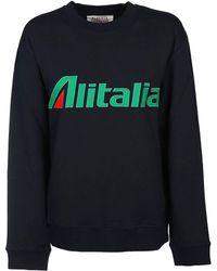 Alberta Ferretti - Women's 17011673j0290 Black Cotton Sweatshirt - Lyst