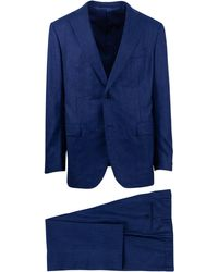 Pal Zileri - Sartoriale Blue Striped Wool Two Button Suit - Lyst