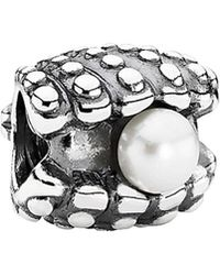 PANDORA - Silver Pearl One Of A Kind Charm - Lyst