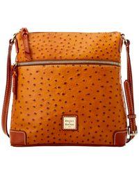 Dooney & Bourke - Ostrich Crossbody Shoulder Bag - Lyst