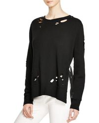 Pam & Gela - Womens Destroyed Side Slit Sweatshirt - Lyst