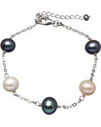 Splendid - Tin Cup Sterling Silver Pearl Bracelet - Lyst