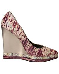 Lanvin - Women's Aw5e2myerp7a Multicolor Leather Wedges - Lyst